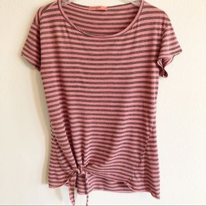 Anthropologie | Stateside Side Tie Front Striped T